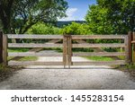 Wooden Gate In The Countryside...