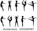 ballerina ballet dancer cartoon ... | Shutterstock .eps vector #1455284987