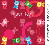 color vector bear  baby picture ...   Shutterstock .eps vector #1455297134