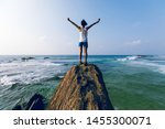Strong Young Woman Outstretched ...