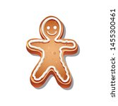 vector icon of christmas cookie | Shutterstock .eps vector #1455300461