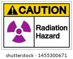 caution radiation hazard symbol ... | Shutterstock .eps vector #1455300671