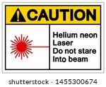 caution helium neon laser do... | Shutterstock .eps vector #1455300674