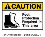 caution foot protection... | Shutterstock .eps vector #1455300677