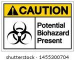 caution potential biohazard... | Shutterstock .eps vector #1455300704