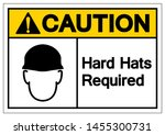 caution hard hats required... | Shutterstock .eps vector #1455300731