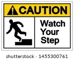 caution watch your step symbol... | Shutterstock .eps vector #1455300761