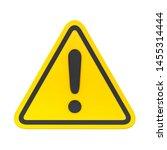 3d hazard warning attention... | Shutterstock . vector #1455314444