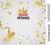 grand opening card design with... | Shutterstock .eps vector #1455331037