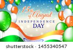 august 15  india independence... | Shutterstock .eps vector #1455340547