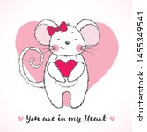 valentine's day greeting card... | Shutterstock .eps vector #1455349541