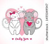valentine's day greeting card... | Shutterstock .eps vector #1455349547
