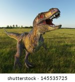 T Rex On Grass