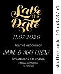 wedding invitation card. save... | Shutterstock .eps vector #1455373754