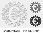 mesh euro cog model with... | Shutterstock .eps vector #1455378284