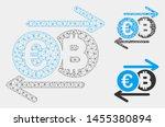 mesh euro bitcoin change model... | Shutterstock .eps vector #1455380894
