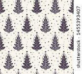 seamless pattern. hand drawn... | Shutterstock .eps vector #1455393407