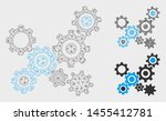 mesh gears mechanism model with ... | Shutterstock .eps vector #1455412781