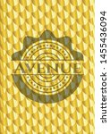 avenue gold badge. scales... | Shutterstock .eps vector #1455436094