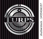 turps silvery badge or emblem.... | Shutterstock .eps vector #1455436157