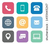 set of web symbol for web... | Shutterstock .eps vector #1455445247