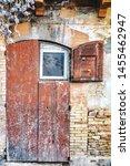 Ancient Wooden Door With Window ...