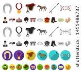 hippodrome and horse cartoon... | Shutterstock . vector #1455486737