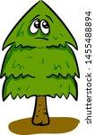 sad christmas tree ... | Shutterstock .eps vector #1455488894
