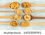 Spoons With Assorted Pasta...