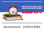 back to school and discount... | Shutterstock .eps vector #1455515081