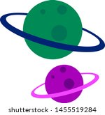 green and purple planet ...