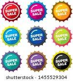 design colorful sale label... | Shutterstock .eps vector #1455529304