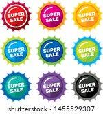 design colorful sale label... | Shutterstock .eps vector #1455529307
