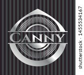 canny silvery badge. vector... | Shutterstock .eps vector #1455534167