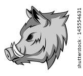 wild boar | Shutterstock . vector #145554631