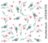 vector background with flowers... | Shutterstock .eps vector #145558705