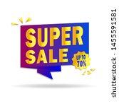 sale banner design. super sale  ... | Shutterstock .eps vector #1455591581