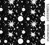 seamless funny cosmic pattern... | Shutterstock .eps vector #1455598571