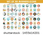 business icons set for business ... | Shutterstock .eps vector #1455614201