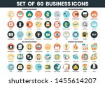 business icons set for business ... | Shutterstock .eps vector #1455614207