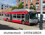 Muni Trolley Bus Near Caltrain...
