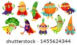 superhero vegetables. super... | Shutterstock . vector #1455624344