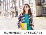 smiling indian young female... | Shutterstock . vector #1455631481