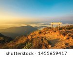the peak at the top of the... | Shutterstock . vector #1455659417