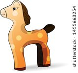 toy horse stands on a white... | Shutterstock .eps vector #1455663254