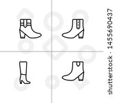 shoes fashion style outline... | Shutterstock .eps vector #1455690437