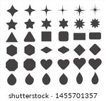 basic shape elements with sharp ... | Shutterstock .eps vector #1455701357
