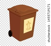 brown trashcan icon. cartoon... | Shutterstock .eps vector #1455719171
