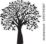 tree silhouette isolated on... | Shutterstock .eps vector #1455759287