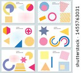 set of templates with minimal... | Shutterstock .eps vector #1455763031